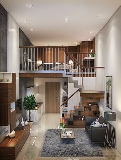 32 Stunning Loft Apartment Decorating Ideas You Should Try - 32 Stunning Loft Ap. 32 Stunning Loft Apartment Decorating Ideas You Should Try – 32 Stunning Loft Apartment Decoratin Loft Design, Tiny House Design, Small Apartments, Small Spaces, Loft Spaces, Loft Apartment Decorating, Apartment Living, Apartment Layout, Single Apartment