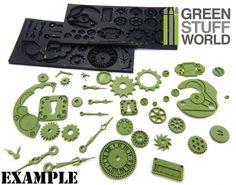PACK x2 Steampunk Texturplatte.  Diese flexible Stempelplatte wurden speziell für die Verwendung mit Polymer Clay entwickelt und erzielt tiefe und detailgetreue Texturen. Sie kann auch für Stoff, Holz, Papier, PMC, Art Clay und vieles mehr verwendet werden. Nicht gültig für Polyurethanharz.  Herstellungsart Material: flexible Gummiplatte unmontiert mit Steampunkmuster, Farbe grau. Hitzebeständiges Gummi, bis zu 240ºC Wir empfehlen SPACHTEL (erhältlich in unserem Etsy-Shop) zu verwenden…