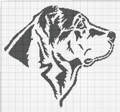 Gallery.ru / Фото #24 - собаки, схемы вышивок из интернета - poodel