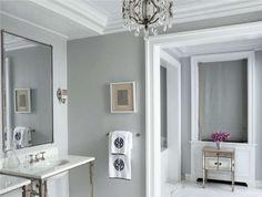 Colore pareti bagno - Grigio chiaro in bagno