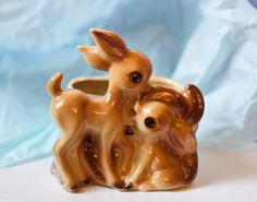 Vintage Deer Planter Shawnee Pottery by Beezus by BeezusComplex