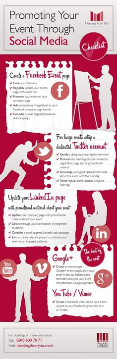 social media event promotion infographic