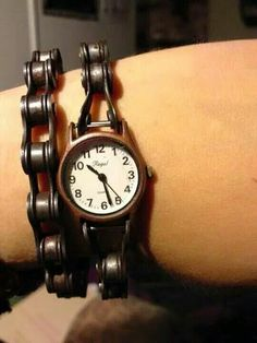 Bike chain watch