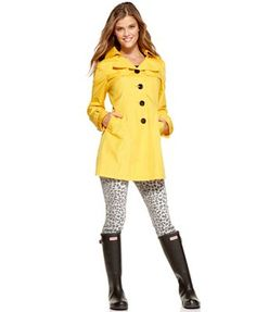 Cutest coat and rain boots!
