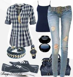 I would wear all BUT the jeans. I have issues with jeans that have holes.
