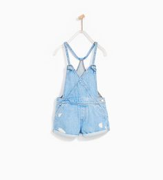 DENIM DUNGAREES WITH KNOTS