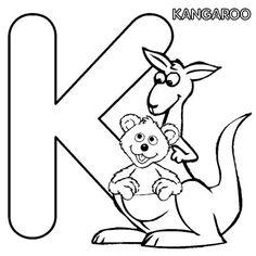 K Is For Kangaroo Coloring Page Kangaroos on Pinterest | Kangaroo Craft, Australian Animals and ...