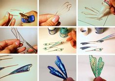 making dragonfly wings. Halloween Crafts, Halloween Decorations, Christmas Crafts, Kids Collage, Fun Crafts, Arts And Crafts, Dragonfly Wings, Fairy Wings, Designer Toys