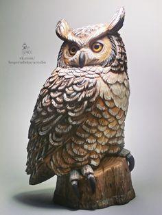 Резьба по дереву Tree Carving, Wood Carving Art, Ceramic Owl, Ceramic Animals, Wood Sculpture, Sculptures, Wooden Figurines, Wood Bird, Got Wood