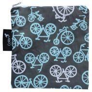 Retro Bikes Reusable Snack Bag, Large An eco-friendly alternative to plastic food storage bags! Machine washable.
