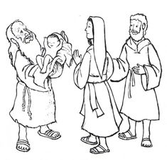Simeon With Jesus Mary And Joseph Luke
