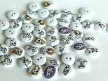 6 Bottoni di legno DOG