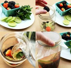 Berry, Lime, and Mint Detox Water + recipes for three other detox waters.