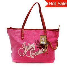 Fuschia Juicy Couture Velour Crown Handbags