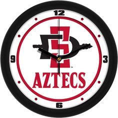 Mens San Diego State Aztecs - Traditional Wall Clock