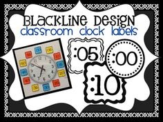 CLOCK NUMBERS to match ANY CLASSROOM DECOR {Blackline Design}.  4 different options designed to be printed onto your choice of colored cardstock to save you ink and match any classroom theme or color scheme.    SET 1: Small Outlined Frames  SET 2: Circular Double-Mounted  SET 3: Larger Outlined Frames  SET 4: Larger Blacklined Frames