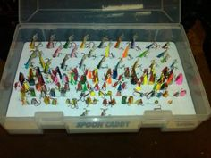 Jigging spoon storage box?? - Ice Fishing Forum | In-Depth Outdoors & Plano Spoon Utility Boxes | Tackle box Spoon and Outdoor gear