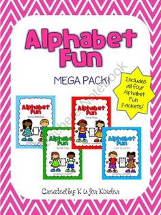 Alphabet Fun Mega Pack from K is for Kinder on TeachersNotebook.com -  (132 pages)  - A bundle of all the Alphabet Fun Units: Color by Letter, Bubble Maps, Circle Maps, and Word Searches.