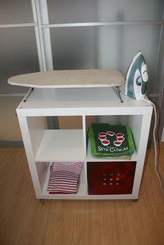 Tabla de planchar plegable abatible y giratoria for Mueble tabla de planchar ikea