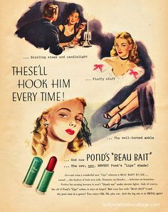 vintage ponds ads | ... go bare either; she could pucker up with confidence thanks to Ponds