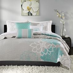 Shop for Madison Park Brianna Aqua Quilted Cotton Coverlet Set. Get free shipping at Overstock.com - Your Online Fashion Bedding Outlet Store! Get 5% in rewards with Club O!