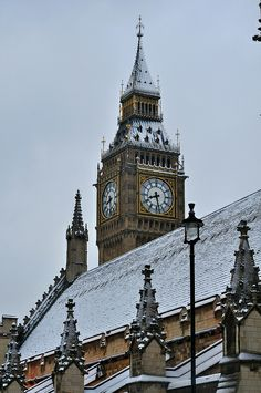 Winter view of London