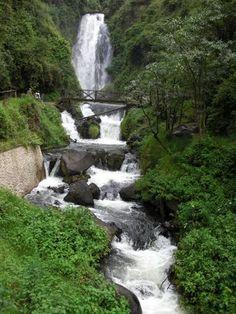 Cascada de Peguche, Otavalo, Ecuador.   This place was amazing! I love Ecuador!