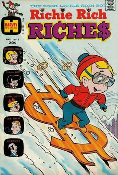 A cover gallery for the comic book Richie Rich Riches Old Comics, Vintage Comics, Vintage Posters, Old Comic Books, Comic Book Covers, Richie Rich Comics, Comic Book Publishers, Cartoon Books, Bedroom Wall Collage
