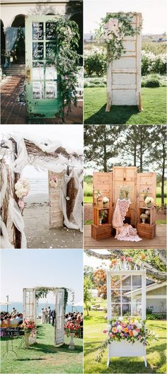 vintage wedding decoration ideas with old doors #vintagewedding #rusticwedding #weddingdecor #weddingideas