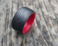 carbon fiber ring by tahoevision on Etsy