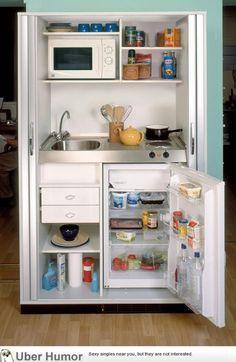 Mini kitchen for the studio apartment