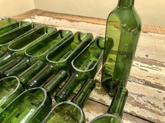 12 Side Cut Wine Bottle Planters with Pallet Wood Bases (Multiple Color Options) - Home & DIY Wine Bottle Planter, Recycled Wine Bottles, Wine Bottle Corks, Glass Bottle Crafts, Bottle Candles, Cut Wine Bottles, Cutting Glass Bottles, Wood Pallets, Pallet Wood