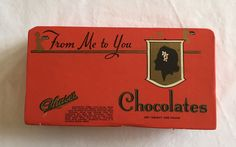 """1930s Chase's Chocolates """"From Me to You"""" chocolate box Chase Candy Co Cardboard #Chases"""