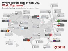 Where are the fans of non-US teams living in the USA?