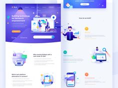 The Toulik Web Design designed by Tenney Tang for RaDesign. Connect with them on Dribbble; Design Web, Web Design Quotes, Website Design, Web Design Trends, Make Design, Website Web, Graphic Design, Landing Page Inspiration, Ui Design Inspiration