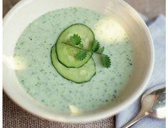 Sopa de pepino para rehidratar el organismo