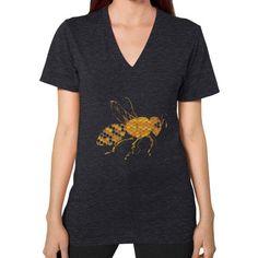 Honey Bee V-Neck (on woman)