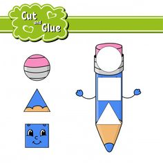 Cut and glue puzzle learning children game with colorful image of a raccoon eating an apple in a wood. wild animals educational activity for kids. Preschool Worksheets, Preschool Activities, Silhouette Cameo Free, Educational Activities For Kids, Busy Board, Vintage Scrapbook, Color Activities, Cut And Paste, Kids Education