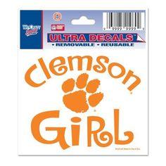 """Clemson University -Girl Multi-Use Decal 3"""" x 4"""""""