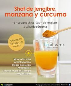 SHOT DE JENGIBRE, MANZANA Y CÚRCUMA (safe weight loss)