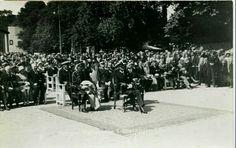 Rogaland fylke Stavanger Norges Varemesse 16.-26. juli 1933. Kongen og hans følge.