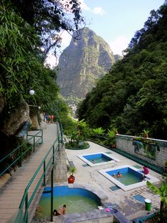 Hot springs of Aguas Calientes, Peru - Perfect after a long day's hike.     Download the FREE Jetpac iPad app to see your friends' best travel photos from Facebook!