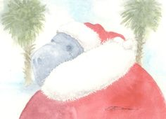 Original watercolor bowman 5 by 7 inch The Seacow by happypaints, $25.00