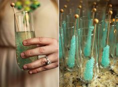 Rock Candy Champagne Cocktail