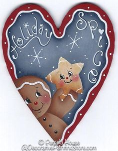 The Decorative Painting Store: Holiday Spice Ginger Pattern, Newly Added Painting Patterns / e-Patterns