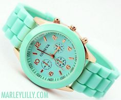 Mint Green Geneva Watch