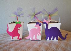 Dinosaur Party Favor Boxes on Pinterest