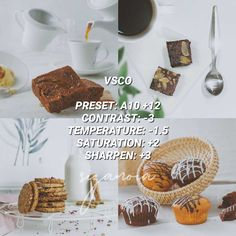 Photography Filters, Food Photography, Vsco Presets, Lightroom Presets, White Instagram Theme, Best Vsco Filters, Insta Filters, Best Filters For Instagram, Cookie Pictures