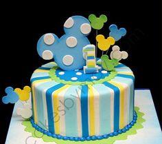 MuyAmeno.com: Tortas de Mickey Mouse Bebé para Fiestas Infantiles