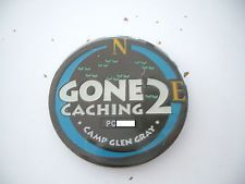 VHTF Event Coin Gone 2 Caching 2006 Geocoin, unactivated, trackable, black